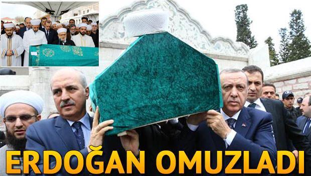 Tabutunu Erdoğan omuzladı