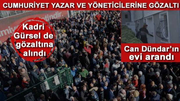 Cumhuriyet Gazetesine operasyon... Hükümetten ilk açıklama