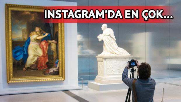 Instagram'da en çok Louvre Müzesi'nin fotoğrafı paylaşıldı