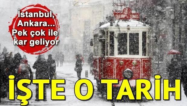 İstanbula kar ne zaman yağacak İşte o tarih...