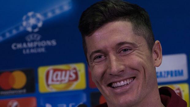 Lewandowski gülerek tepki gösterdi