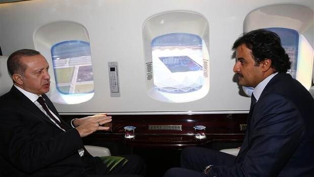 Cumhurbaşkanı Erdoğan, Emir Al Saniyi havaalanında karşıladı
