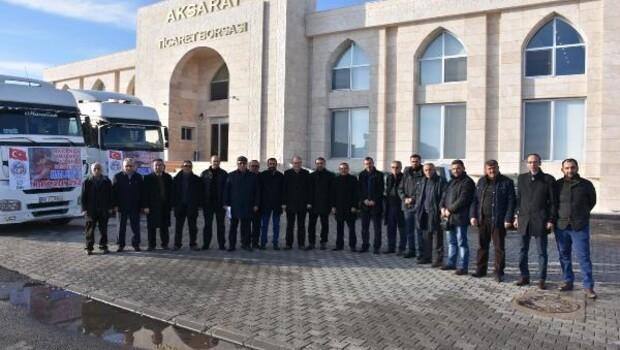 Aksaray Ticaret Borsasından Halepe yardım TIRı