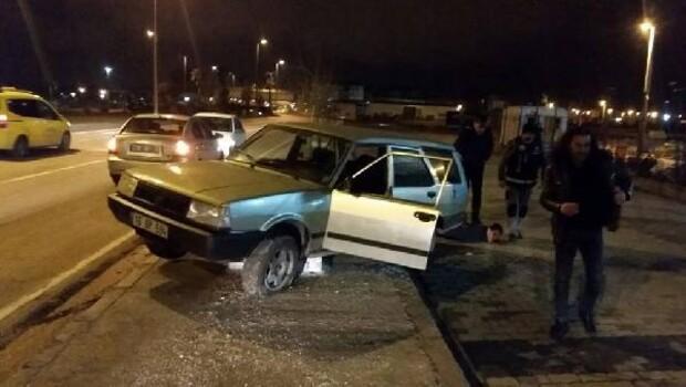 Kaçan uyuşturucu satıcıları kaza yapınca yakalandı