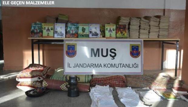 Muş'ta PKK'ya ait sığınak bulundu