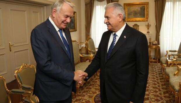 Başbakan Yıldırım, Fransa Dışişleri Bakanı Ayraultyu kabul etti