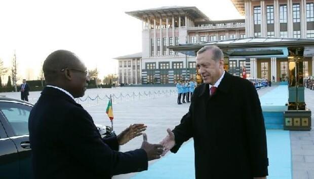 Cumhurbaşkanı Erdoğan, Benin Cumhurbaşkanı Talonu resmi törenle karşıladı