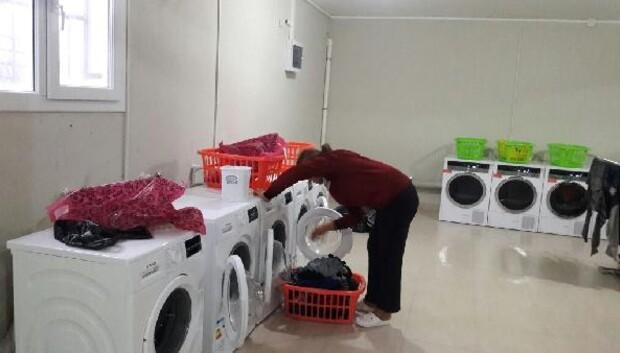 Öğrencilerin çamaşır sorununa çözüm