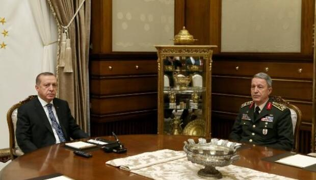 Cumhurbaşkanı Erdoğan, Genelkurmay Başkanı Akarı kabul etti