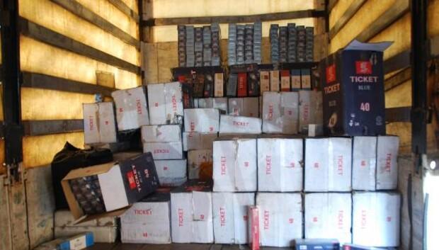 Gaziantepte, 84 bin 500 kaçak sigara ele geçti