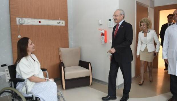 Kılıçdaroğlundan Meclisteki kavgada yaralanan Şafak Paveye ziyaret