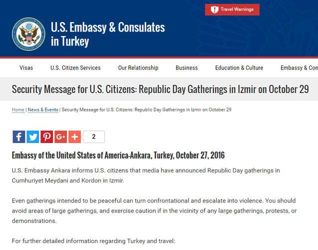 Son dakika: ABD Büyükelçiliğinden güvenlik uyarısı