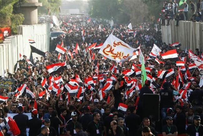 Sadr yanlılarından Bağdat'ta Türkiye karşıtı gösteri
