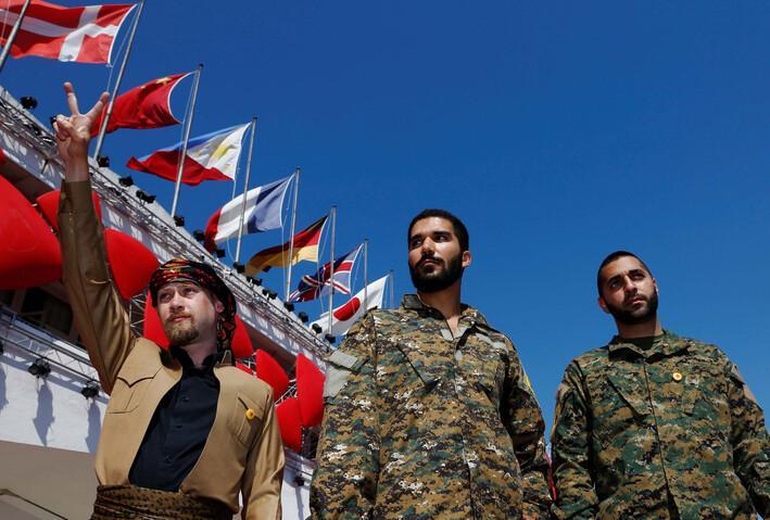 YPG'den Venedik'te propaganda