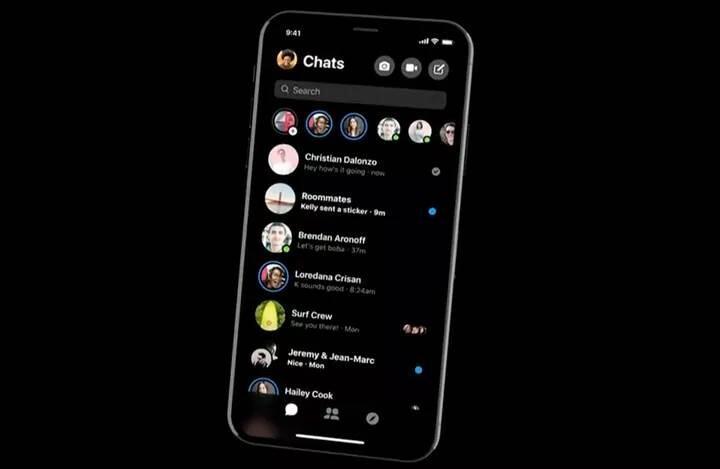 Facebook Messenger'ın yeni görünümü ortaya çıktı