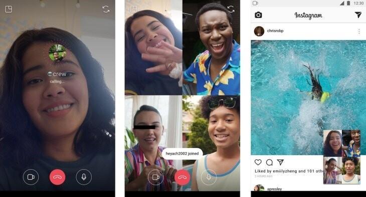 Instagram'da görüntülü görüşmede yeni dönem