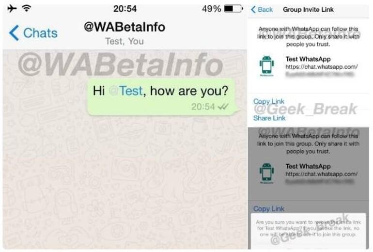 Whatsapp'a bu kez de etiketleme özelliği geliyor