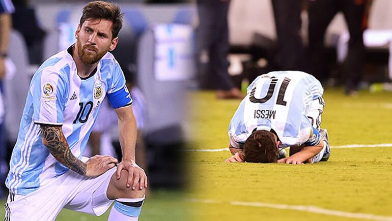 Messi finalde penaltı kaçırdı, milli takımı bıraktı! Şampiyon Şili...