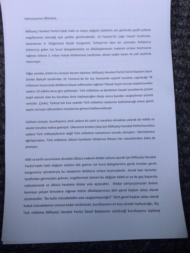 MHP'li muhalifler toplandı: Beşinci parti açıklaması