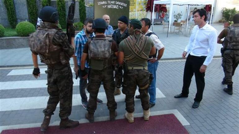 Sütlüce'de hareketli dakikalar: Üniversite binasında polis, polise ateş açtı