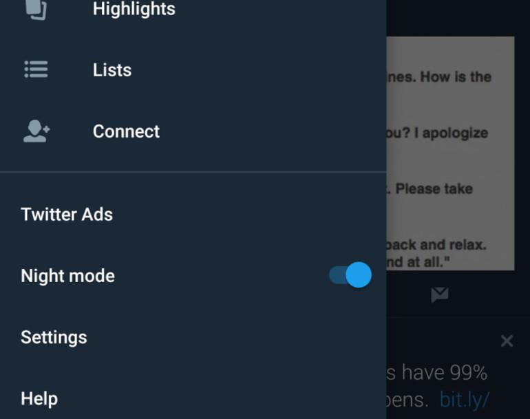 Twitter'ın gece modu özelliği yayında!