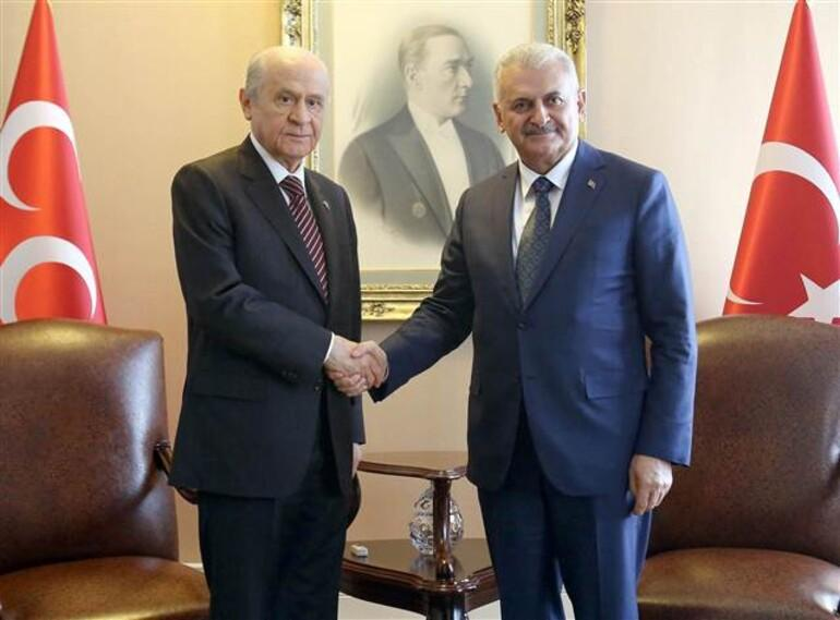 Başbakan Yıldırım'dan CHP ve MHP'ye ziyaret