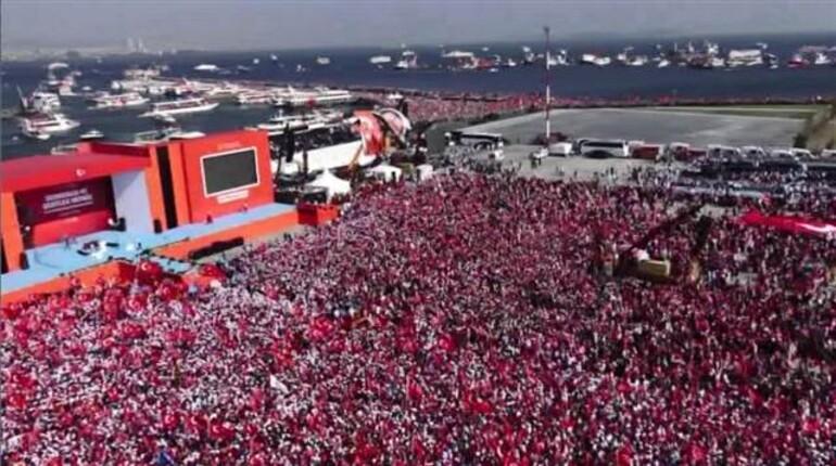 Yenikapı'daki mitinge kaç milyon kişi katıldı?