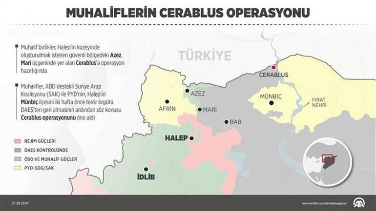 Son dakika haberi: TSK sabaha karşı Cerablus'a operasyon başlattı!