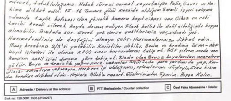 Darbe soruşturması kapsamında yüzbaşının eşine gönderdiği mektuba el konuldu