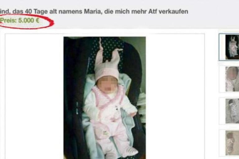 Ünlü alışveriş sitesinde 40 günlük bebek satışa çıkarıldı!