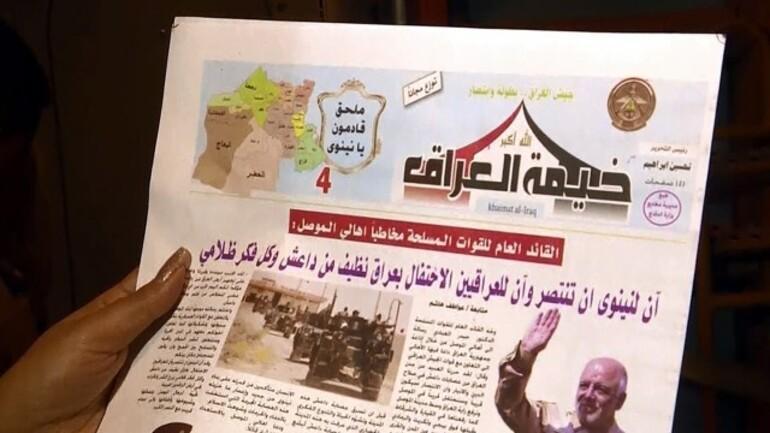 Irak Hava Kuvvetleri Musul'da binlerce broşür dağıttı