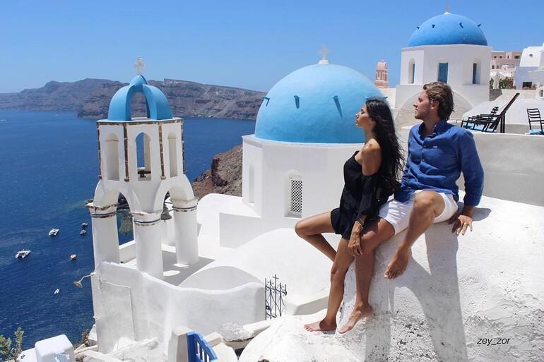 Sen en güzelisin Santorini...