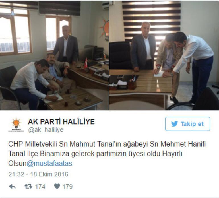 Mahmut Tanal'ın abisi resmen AK Partili oldu