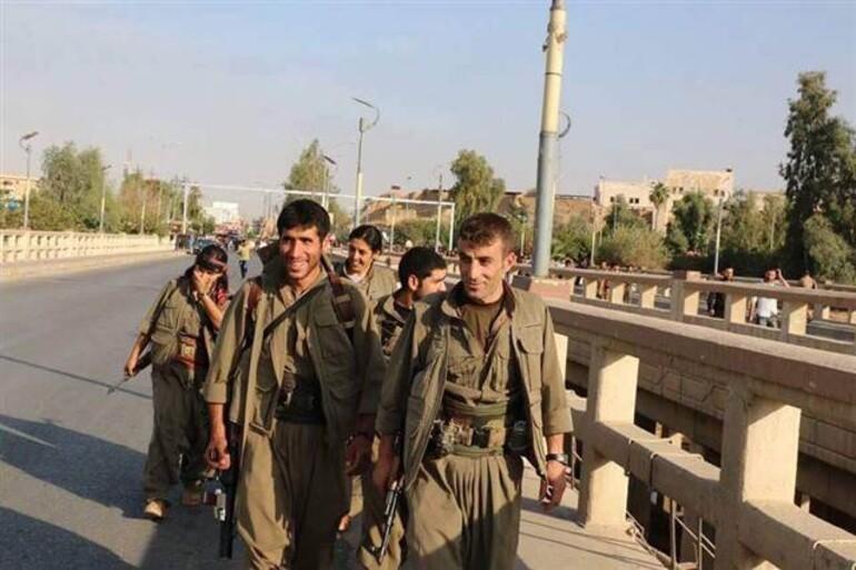 İHA: PKK'lı teröristlerin Kerkük'te çekilmiş fotoğrafları yayınlandı
