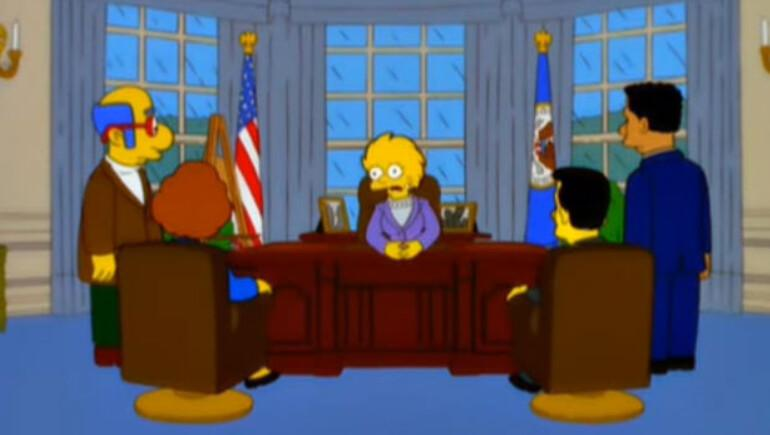 The Simpsons Trumpın başkan olacağını 16 yıl önceden bildi