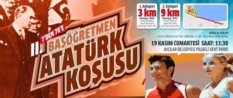 Avcılar Başöğretmen Atatürk için koşuyor