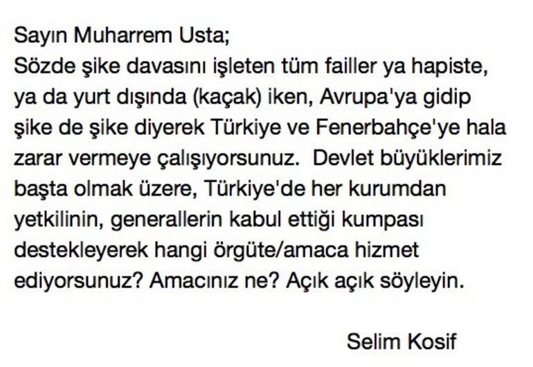 Fenerbahçeden Muhaharrem Ustaya çok sert tepki