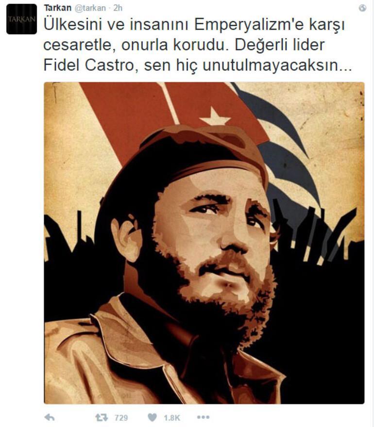 Tarkandan Fidel Castro mesajı
