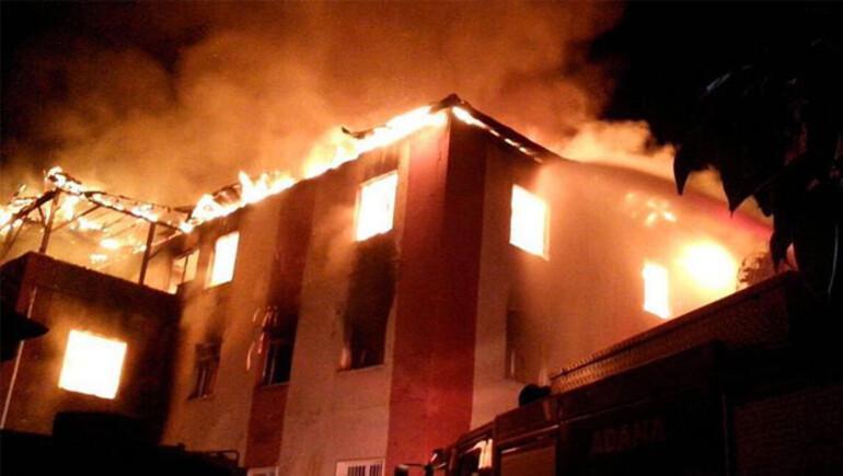 Adanada kız öğrenci yurdunda yangın: 12 ölü, 13 yaralı