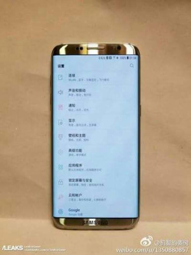 İşte Galaxy S8in ilk fotoğrafı