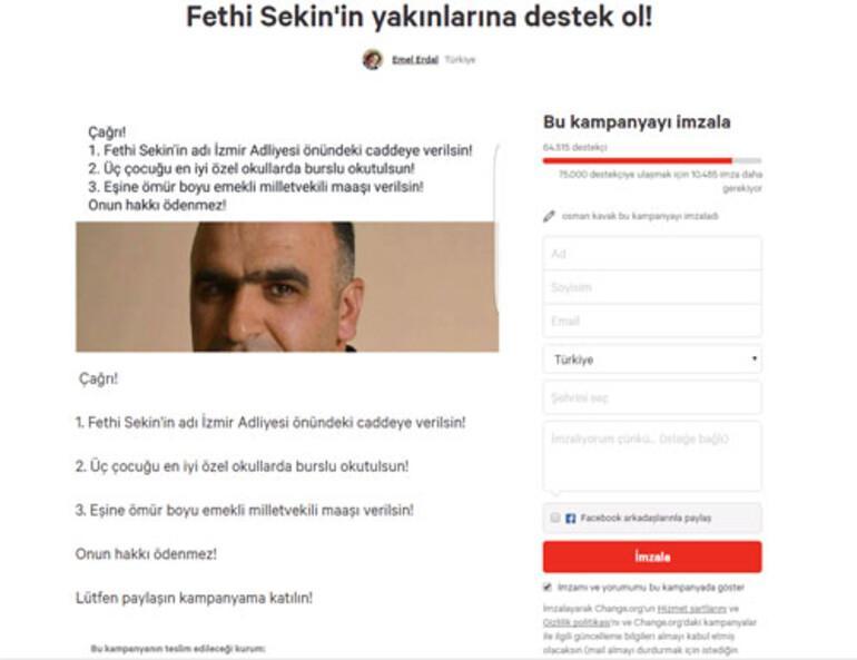 Şehit polis Fethi Sekin'in ailesi için kampanya
