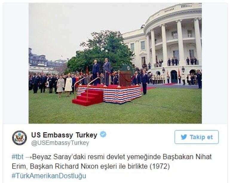 Başbakandan, ABDnin Nihat Erim paylaşımı sorusuna cevap