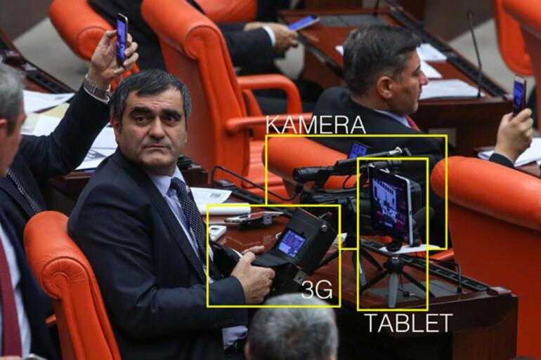 Mecliste canlı yayın sistemi kurdu