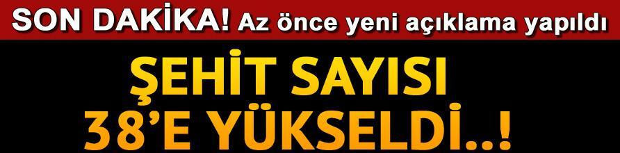 İstanbul'daki Saldırıda Şehit Sayısı 38 Oldu !