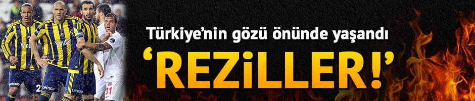 Antalya-Fenerbahçe maçında isyan ettiren olay: Reziller!