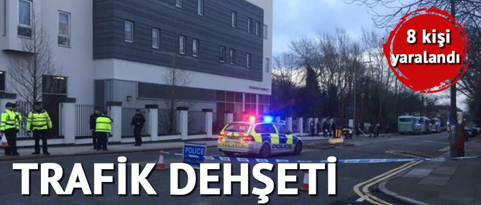 İngiltere'de trafik dehşeti: 8 kişi yaralandı