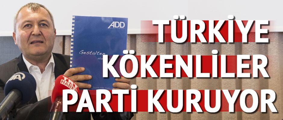 Türkiye kökenliler, Alman Demokratlar Birliği adıyla parti kuruyor