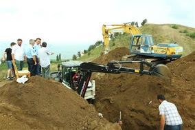 Samsun'da tarihi mezar bulundu