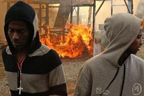 Fransa'daki sığınma kampında yangın