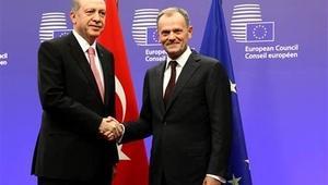 Cumhurbaşkanı Erdoğan, AB Konseyi Başkanı Tusk ile görüştü